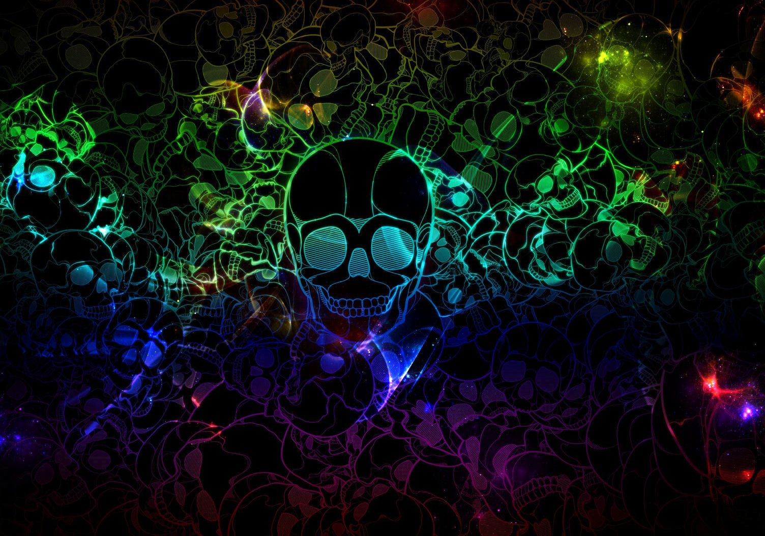 Abstract-Color-Skull-Wallpaper