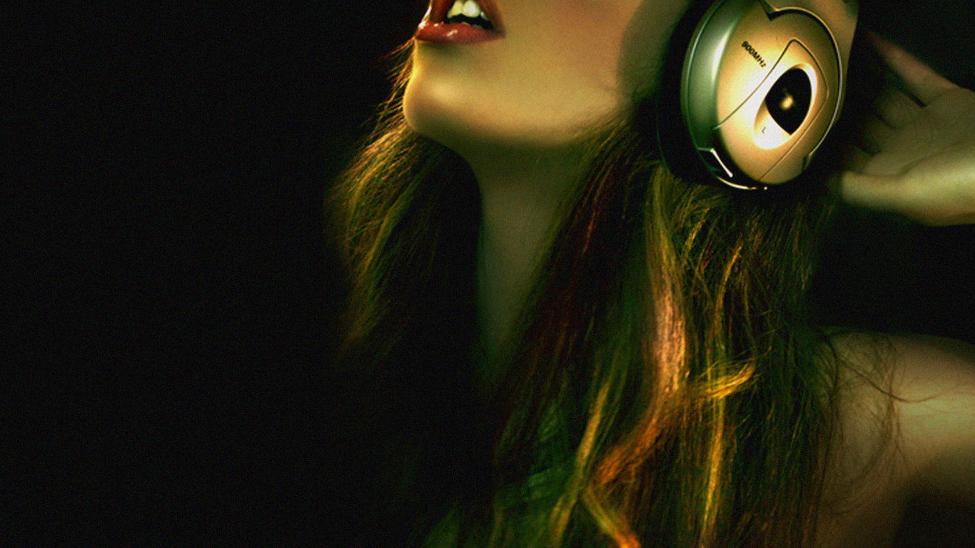 music girl wallpapers headphones - photo #12